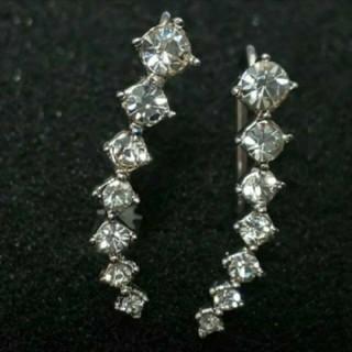 SWAROVSKI - f47❇️ルブラ❇️7粒ダイヤモンドキュービックジルコニア ピアス 18金RGP