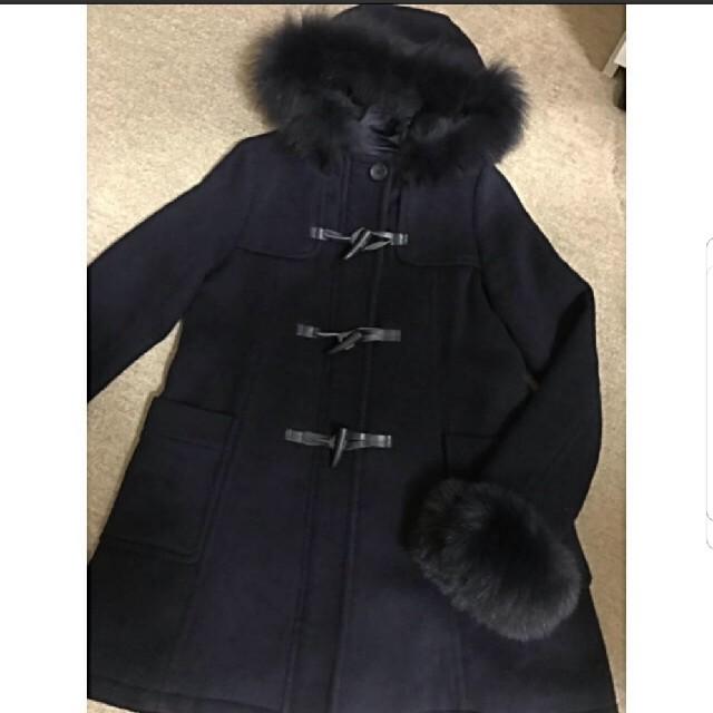 titty&co(ティティアンドコー)のtitty&co. フォックスファー ダッフルコート ネイビー 美品 ティティ レディースのジャケット/アウター(ダッフルコート)の商品写真