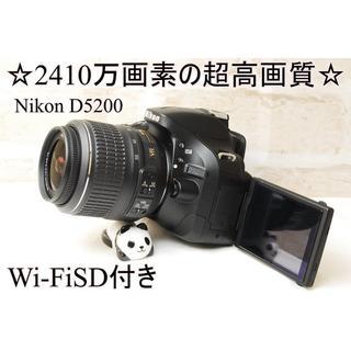 ☆スマホに送れるWi-FiSD付き☆2410万画素☆ニコン D5200☆