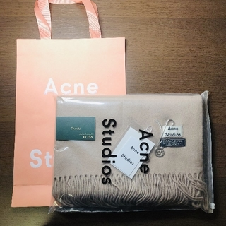 ACNE - 旧タグ 新品 未使用 アクネ マフラー ライトベージュ トープメランジ系