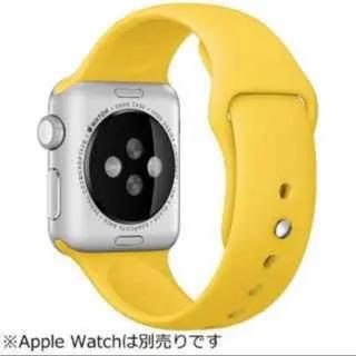 アップルウォッチ(Apple Watch)のアップルウォッチ AppleWatch 純正バンド イエロー 38mm 40mm(腕時計(デジタル))
