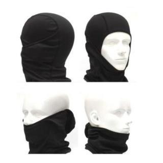 【黒】目だし帽 高機能3Wayフェイスマスク 【人気商品】6点set(ネックウォーマー)