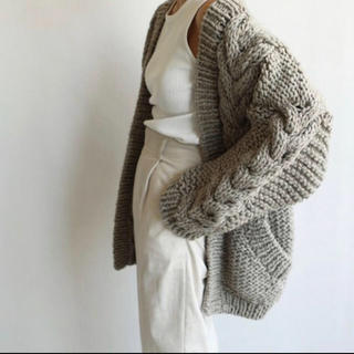 TODAYFUL - cable handknit cardigan♡38