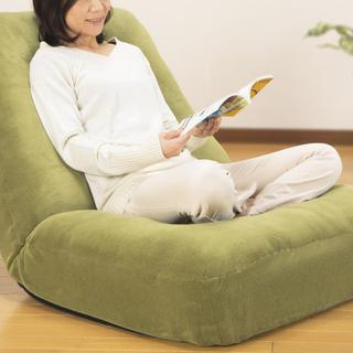 ゆったり ワイド コイル ソファチェア 座椅子 フロアチェア