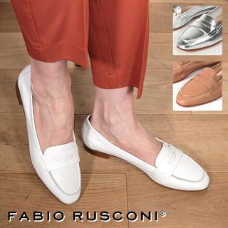 FABIO RUSCONI - 2019年完売品 ファビオルスコーニローファー  ホワイト白 革レザー