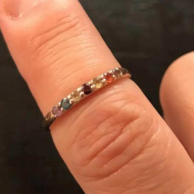 指輪 石7個 レディースのアクセサリー(リング(指輪))の商品写真
