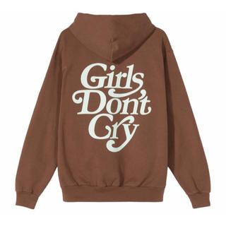 ジーディーシー(GDC)の【M】Girls Don't Cry LOGO HOODY BROWN(パーカー)