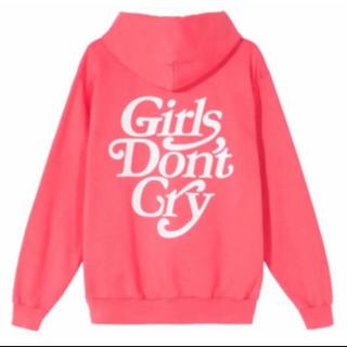 ジーディーシー(GDC)の新品未使用 Mサイズ girls don't cry パーカー ピンク(パーカー)