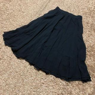 Sybilla - 値下げ交渉OK シビラ ミモレ丈 シフォンスカート Mサイズ ブラック シルク