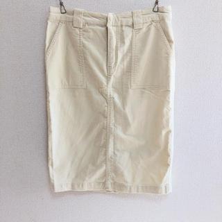 LEPSIM - LEPSIM* コーデュロイ オフホワイト タイトスカート