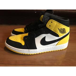 NIKE - NIKE AIR JORDAN 1 MID yellow toe black