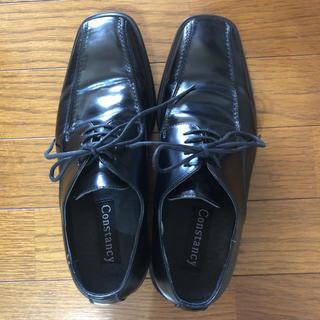 Constancy ブラック ビジネシューズ 24.5(ドレス/ビジネス)
