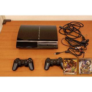 SONY PS3 本体 ブラック CECHH00 40GB+ソフト2本