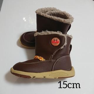 ムーンスター(MOONSTAR )の【美品】アンパンマン ブーツ 15センチ(ブーツ)