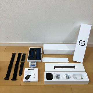 アップルウォッチ(Apple Watch)の美品 Apple watch Series 4 44mm GPS アルミニウム(腕時計(デジタル))