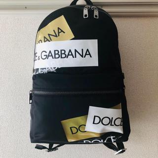 DOLCE&GABBANA - 【新品未使用】DOLCE & GABBANA★ゴールドプリントバックパック
