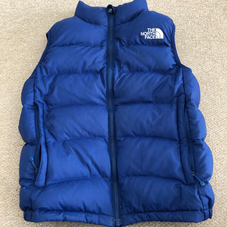 THE NORTH FACE - THE NORTH FACE 150cm ダウンベスト 青