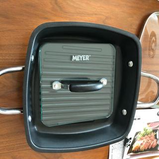 マイヤー(MEYER)のMEYER スクエアグリルパン24cm(鍋/フライパン)