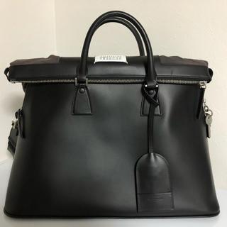 Maison Martin Margiela - [新品未使用]メゾン マルジェラ 大人気 5AC レザーバッグ(黒) ★半額!★