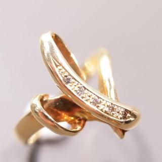 トクトクジュエリー 18金 ブラウン ダイヤモンド K18 リング(リング(指輪))