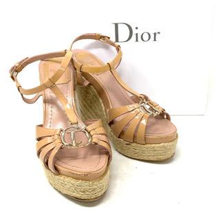 Christian Dior - Christian Dior☆サンダル ストラップ ロゴ ウェッジソール