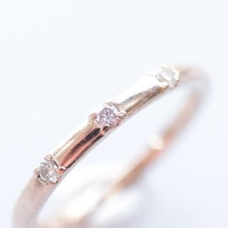 トクトクジュエリー ピンクダイヤモンド  18金 ピンクゴールド リング(リング(指輪))