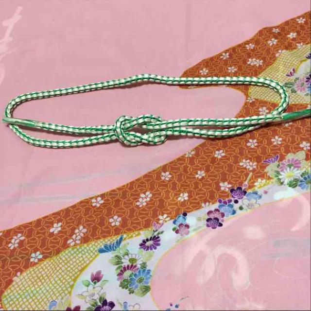 新品❗️帯締め 白に緑 レディースの水着/浴衣(和装小物)の商品写真