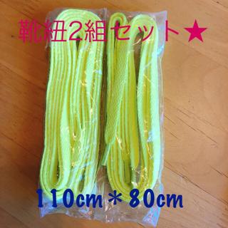 【新品☆未使用】靴紐 2足分 110cm&80cm(その他)