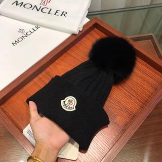 MONCLER - モンクレール ニット 帽 ロゴ MONCLER