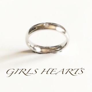 19号シルバーワンポイントCZダイヤ指輪(リング(指輪))