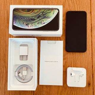 アップル(Apple)の【美品】 iPhone XS 256GB 本体 スペースグレー SIMフリー(スマートフォン本体)