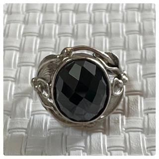 シルバー925 ブラック ジルコニア リング(リング(指輪))