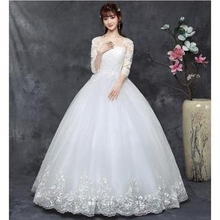 新品花嫁ドレス ウエディングドレス 二次会 結婚式 大きいサイズ