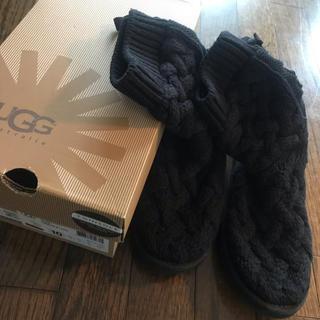 アグ(UGG)のUGG ニットブーツ ブラック 25cm(ブーツ)