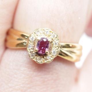 トクトクジュエリー ダイヤモンド ルビー 18金 リング(リング(指輪))
