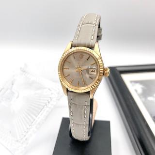 ロレックス(ROLEX)の【仕上済】ロレックス デイト K18 金無垢 レディース 腕時計(腕時計)