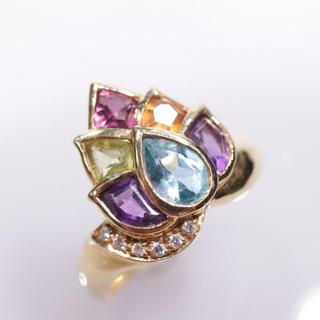 トクトクジュエリー ご褒美ジュエリー マルチカラー ダイヤモンド 18金 リング(リング(指輪))
