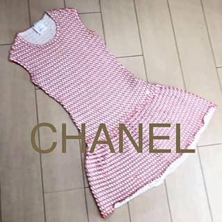 シャネル(CHANEL)のCHANEL近年タグワンピースXS(ひざ丈ワンピース)