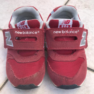New Balance - ニューバランス 赤 16.5㎝
