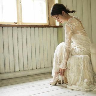 ウェディングドレス ヴィンテージ風 Chloe風 前撮りドレス 二次会ドレス