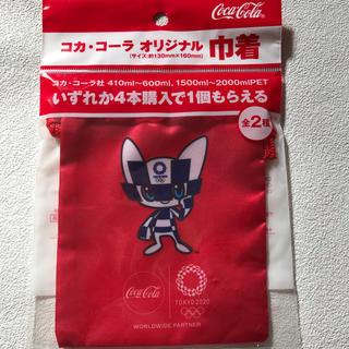 コカコーラ(コカ・コーラ)の新品未開封非売品:コカ・コーラオリジナル巾着 東京2020オリンピック(ノベルティグッズ)
