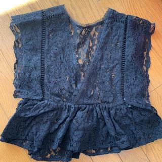 エモダ(EMODA)のエモダ 未使用 トップス ブラック(カットソー(半袖/袖なし))