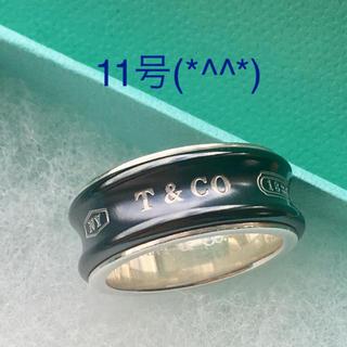 ティファニー(Tiffany & Co.)の1837ブラックチタンコンビリング 11号 美品です(*^^*)(リング(指輪))