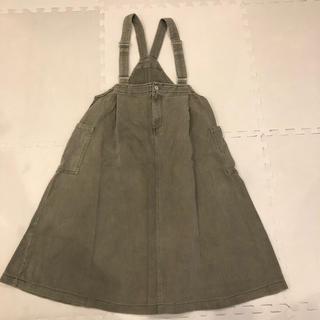 ダブルクローゼット(w closet)のW closet ヴィンテージ風ジャンパースカート サロペット(サロペット/オーバーオール)
