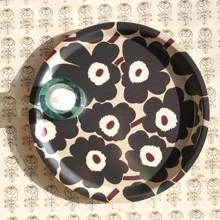 marimekko - マリメッコ*ウニッコ*木製トレイ*お盆*丸*トレー*191