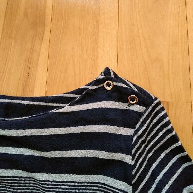 GAP(ギャップ)のGAP  ワンピース 七分袖 ボーダー レディースのワンピース(ひざ丈ワンピース)の商品写真