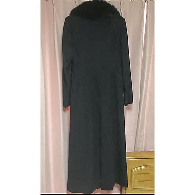 RU(アールユー)の超マキシ ロングコート カシミア フォックスファー レディースのジャケット/アウター(ロングコート)の商品写真