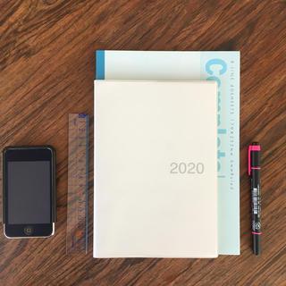 ムジルシリョウヒン(MUJI (無印良品))の無印 2020 マンスリースケジュール帳(手帳)