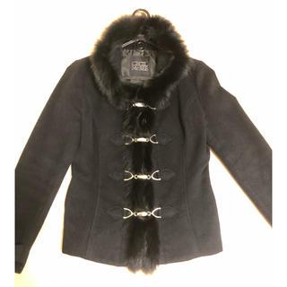 セシルマクビー(CECIL McBEE)のセシルマクビー コート 黒 リアルファー取り外し可能(毛皮/ファーコート)
