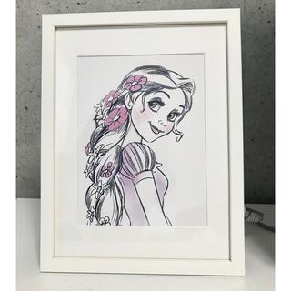 ディズニー(Disney)のラプンツェル DisneyLand paris(絵画/タペストリー)